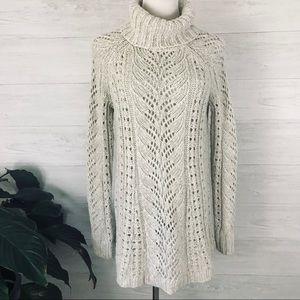Anthropologie Sleeping On Snow Knit Tunic Sweater